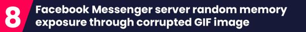 Facebook Messenger server random memory exposure through corrupted GIF image