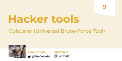Hacker Tools 9 - Gobuster