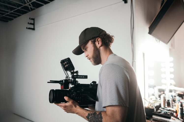 Man doing videography work