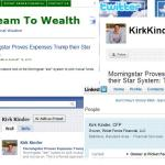 financial social media savvy examples
