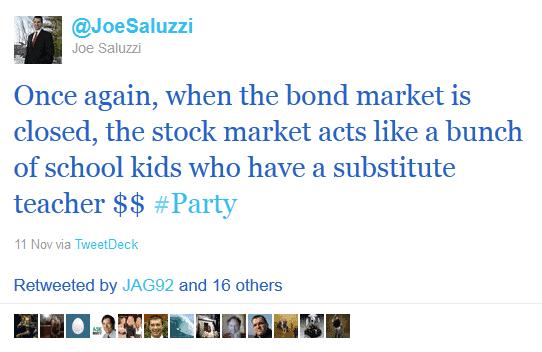 tweets from Joe Saluzzi, financial trading