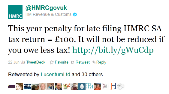 twitter for marketing - HM Revenue & Customs, Tax
