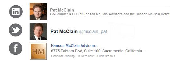 Patrick McClain       Hanson McClain Advisors