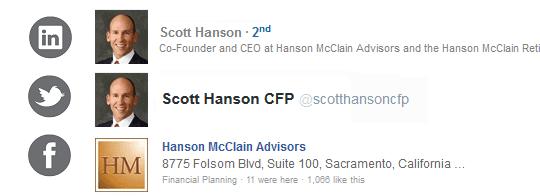 Scott T. Hanson       Hanson McClain Advisors