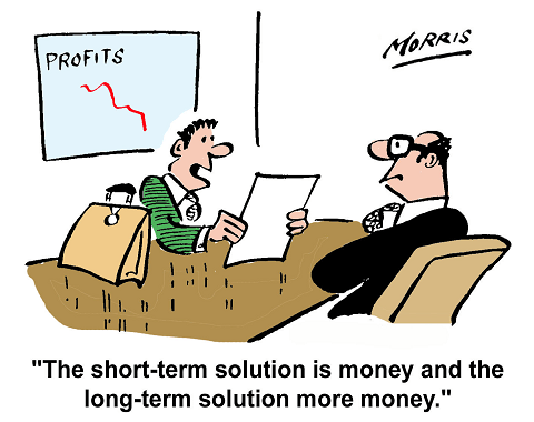 The short-term solution is money and the long-term solution more money