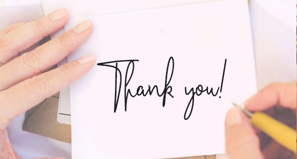 Handwritten Thank you Card Customer Appreciation