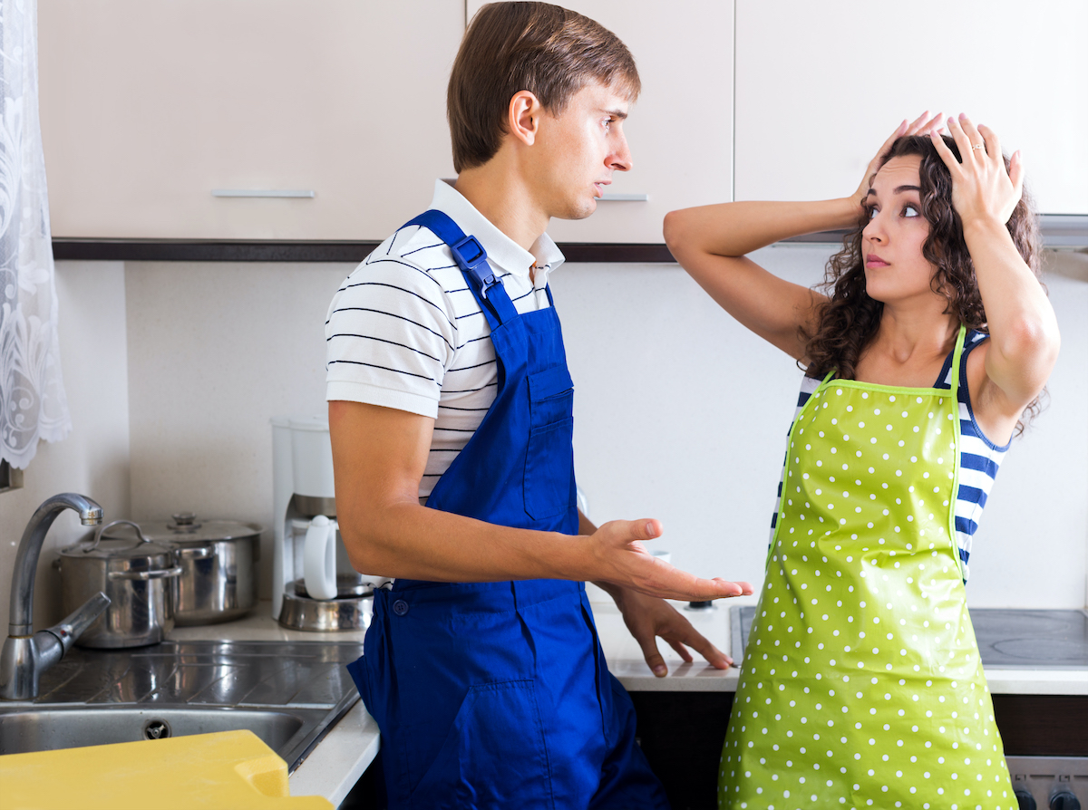 plumber is losing housewife as a customer