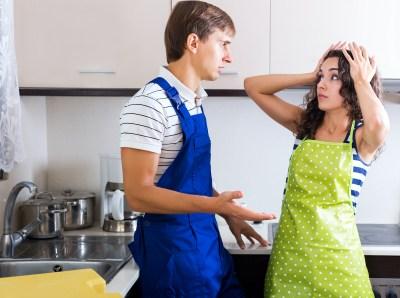plumber is losing housewife as a customer