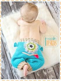 crochet alien monster pants
