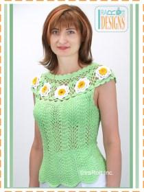 green daisy top