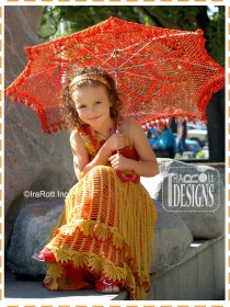kids red parasol
