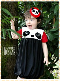 panda bear bubble dress