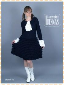 ruffled crochet dress