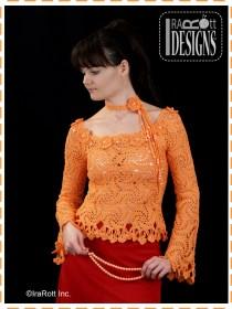 spider motif blouse top