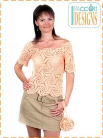 spider motif blouse top2