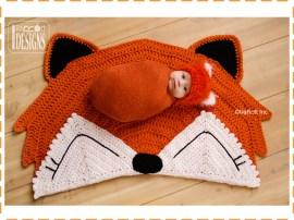 crochet fox rug