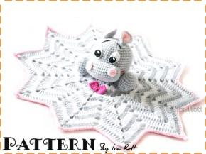 crochet hippo lovey