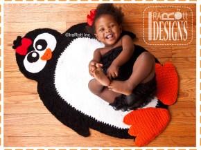 crochet penguin rug