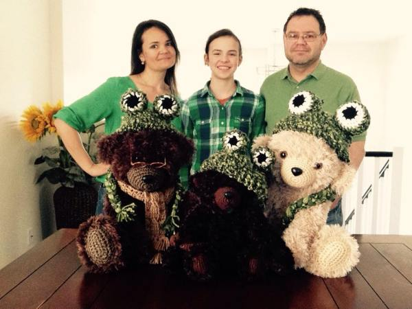 Teddy bear family Crochet Patterns