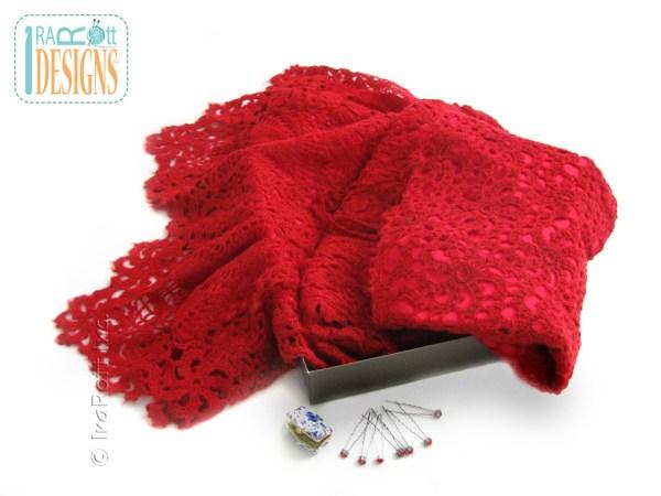 Free form crochet wedding dress