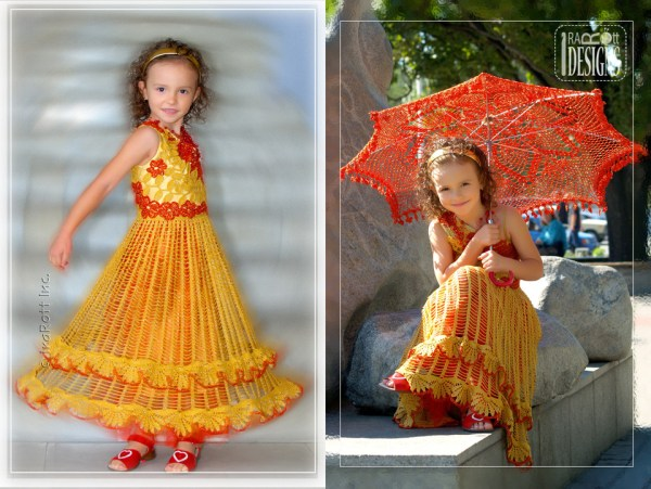 handmade crochet wedding dress