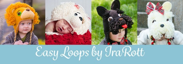 Crochet animal hat patterns with loop stitch by IraRott