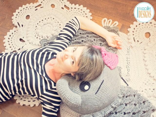 Josefina and Jeffery Elephant Pillow Pattern by IraRott