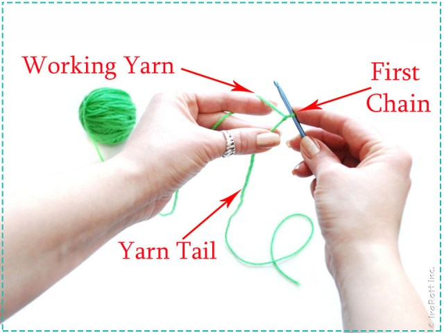 Double chain easy cord foundation sc tutorial by IraRott