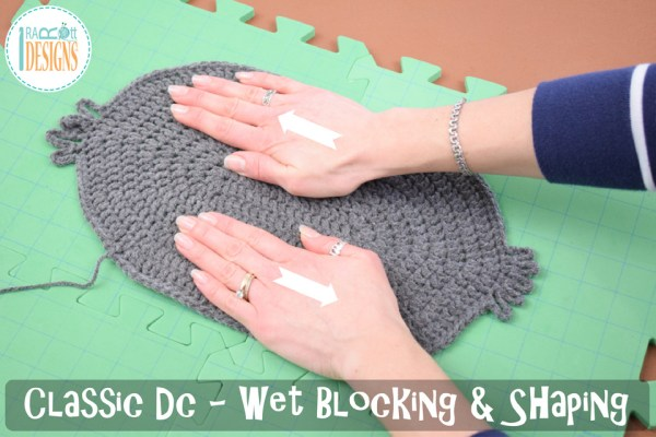 Classic double crochet stitch worked in the round - blocking and shaping