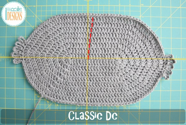 Classic double crochet stitch worked in the round SLANTED seam and rounds