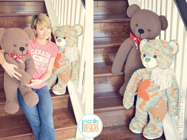 John the Canadian Teddy Bear crochet pattern by IraRott inspired by Canada's 150 anniversary