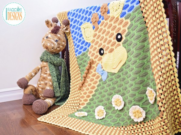 Rusty the Giraffe Giant Amigurumi and Crochet Giraffe Blanket Patterns by IraRott®