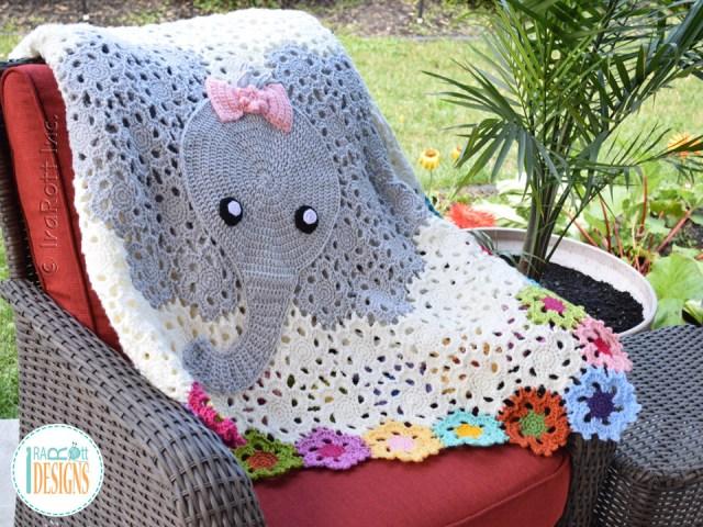 Josefina Elephant Blanket Crochet Pattern by IraRott