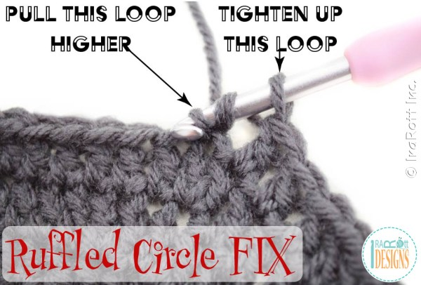 Crochet Gauge Fix - Ruffled Dc Circle