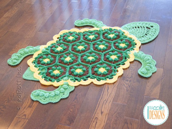 Crochet Turtle Rug Pattern by IraRott