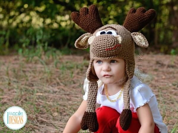 Crochet Moose Hat Pattern by IraRott