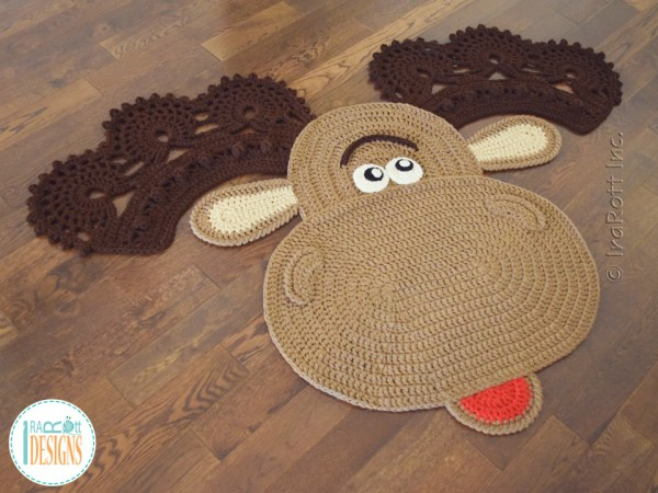 Crochet Moose Rug Pattern by IraRott