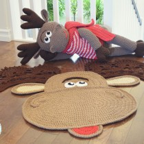 Moose Rug and Big Stuffed Animal Crochet Pattern by IraRott
