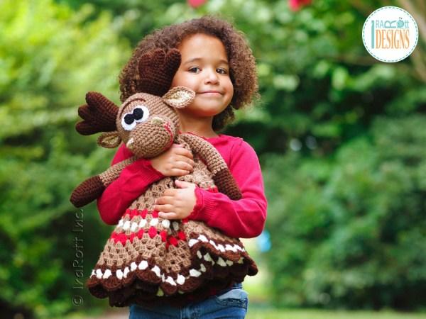 Crochet Moose Lovey Pattern by IraRott