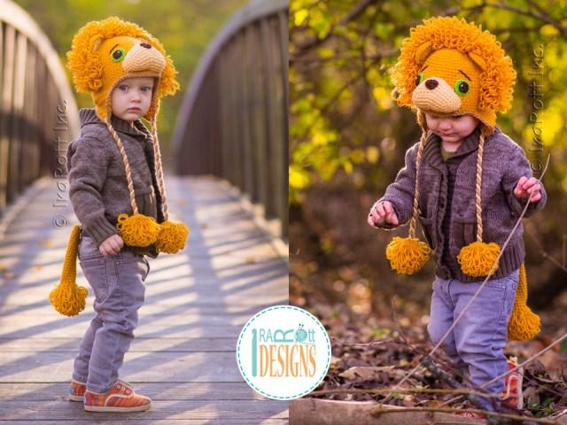 Lion Leonardo Crochet Hat Pattern by IraRott