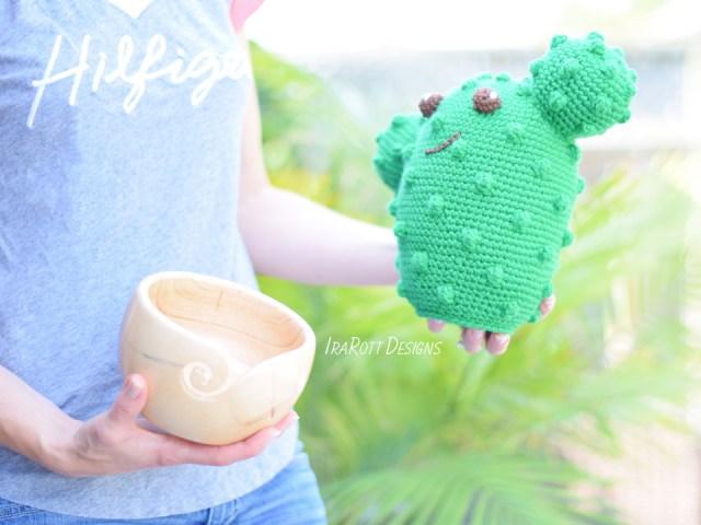 Snuggles The Cactus Amigurumi Pattern by IraRott