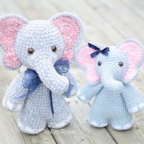 Josefina and Jeffery Chubby Little Elephants