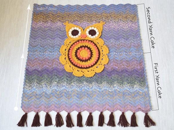 A Unique Self Striping Effect Of Mandala Tweed Yarn