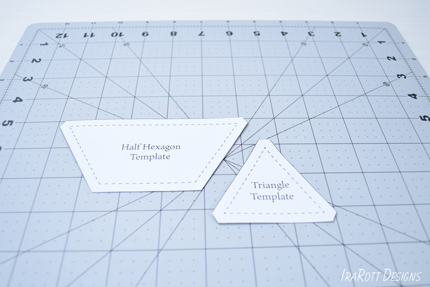 Cutting Trapezoids and Triangles from Templates