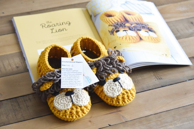 Crochet Animal Slippers Care Instructions