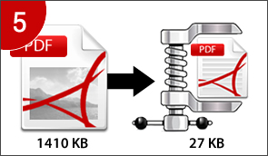 Compress PDF files to save storage space