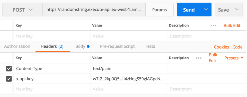 Add new HTTP header to your API call in Postman