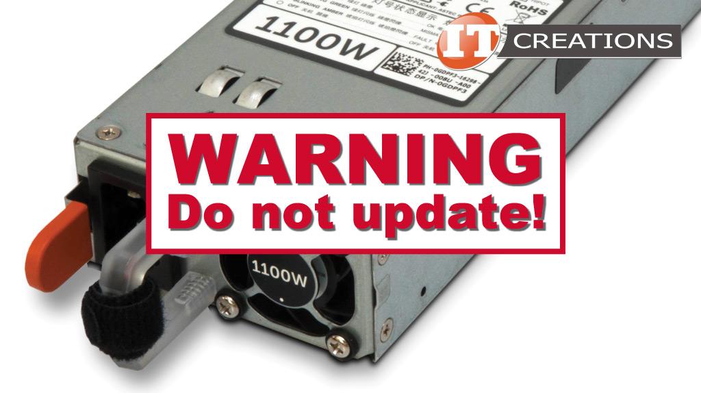 PSU Firmware — Do Not Update! – IT Creations – Blog