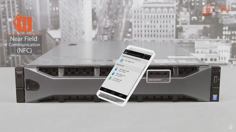 mobile app with quick sync bezel on Dell PowerEdge R730xd