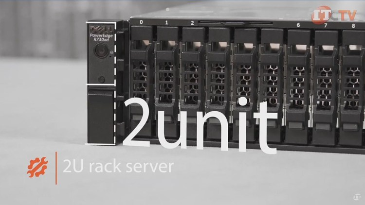 Poweredge R730xd front of 2U system